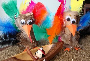 Feathery Recycled Turkeys