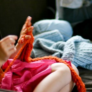 Finger Knitting Scarf
