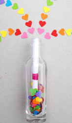 Invisible Ink Valentine In A Bottle