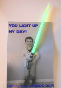 Luke Skywalker's Light Saber Valentine