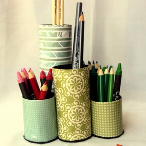 Paper Roll Pencil Organizers