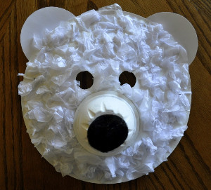 Playful Polar Bear Mask