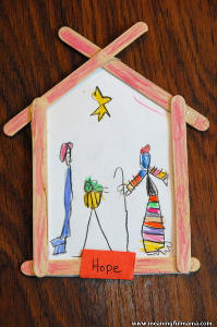 Popsicle Stick Nativity Scene
