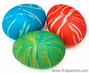 Rubber Band Easter Egg Coloring
