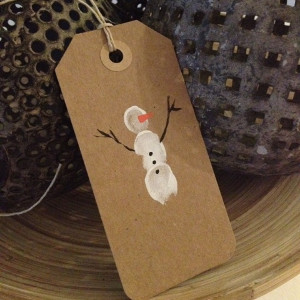 Simple Snowman Gift Tag