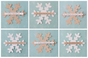 Snowflake Christmas Countdown Activity