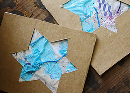 Tinfoil and Cardboard Hanukkah Cards