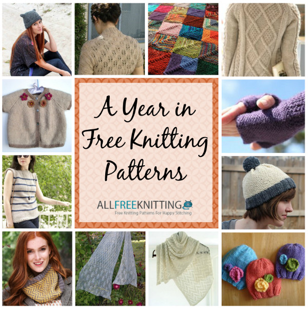 A Year in Free Knitting Patterns