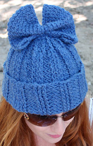 Super Simple Knit Bow Hat Allfreeknitting Com