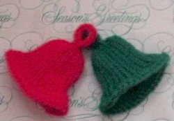Jingle bells ornament for Knitted christmas bells
