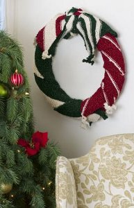 Scarf Wrapped Wreath