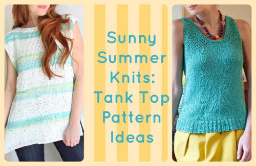 Sunny Summer Knits: 16 Tank Top Pattern Ideas | AllFreeKnitting.com