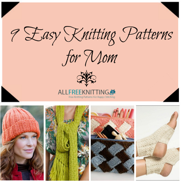 9 Easy Knitting Patterns for Mother's Day