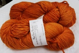 Blue Face Worsted Yarn in Pumpkin King