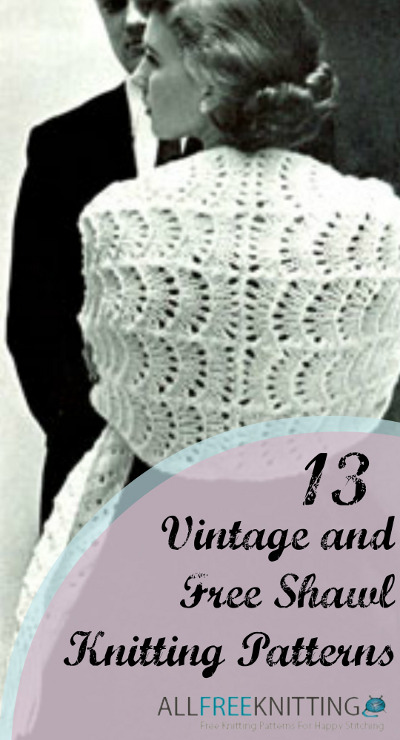 Vintage and Free Shawl Knitting Patterns