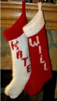 Knitted Christmas Stocking Patterns For Beginning : Large Christmas Stocking AllFreeKnitting.com