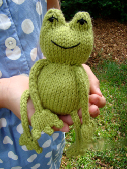 Ribbit Knit Frog