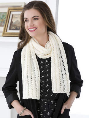 Lace Stripes Scarf