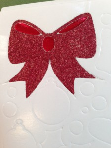 Christmas Wreath with a Big Red Bow Greeting Card