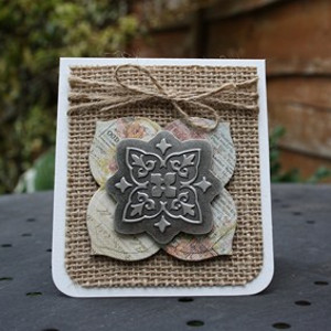 DIY Mini Card with a Metal Embellishment