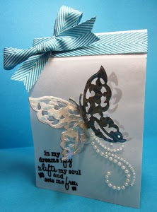 Magnificent Shining Butterfly Card