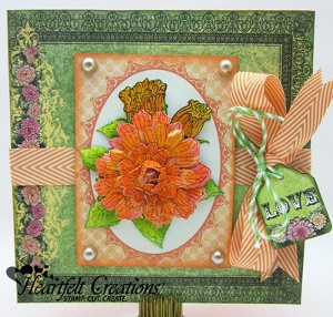 Majestic Bouquet Handmade Greeting Card