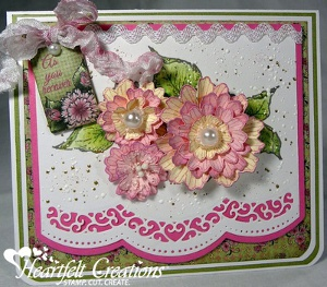 Majestic Scalloped Lace Flower Card