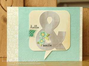 Paper Stitched Hello & Smile Card