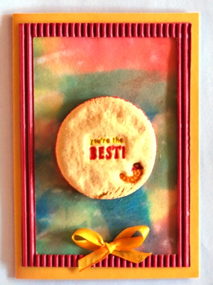 Salt Dough Cookie Card