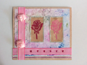 Shades of Pink Roses Card