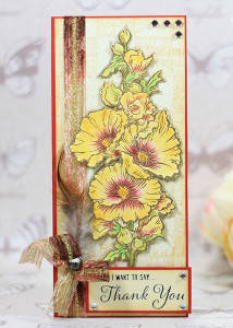Tall Floral Thank You Card