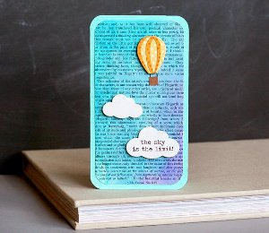 The Sky is the Limit Hot Air Balloon Card