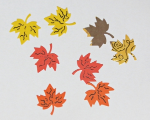 Windswept Autumn Leaves Birthday Card