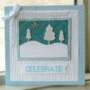 Wintry Christmas Celebration Card