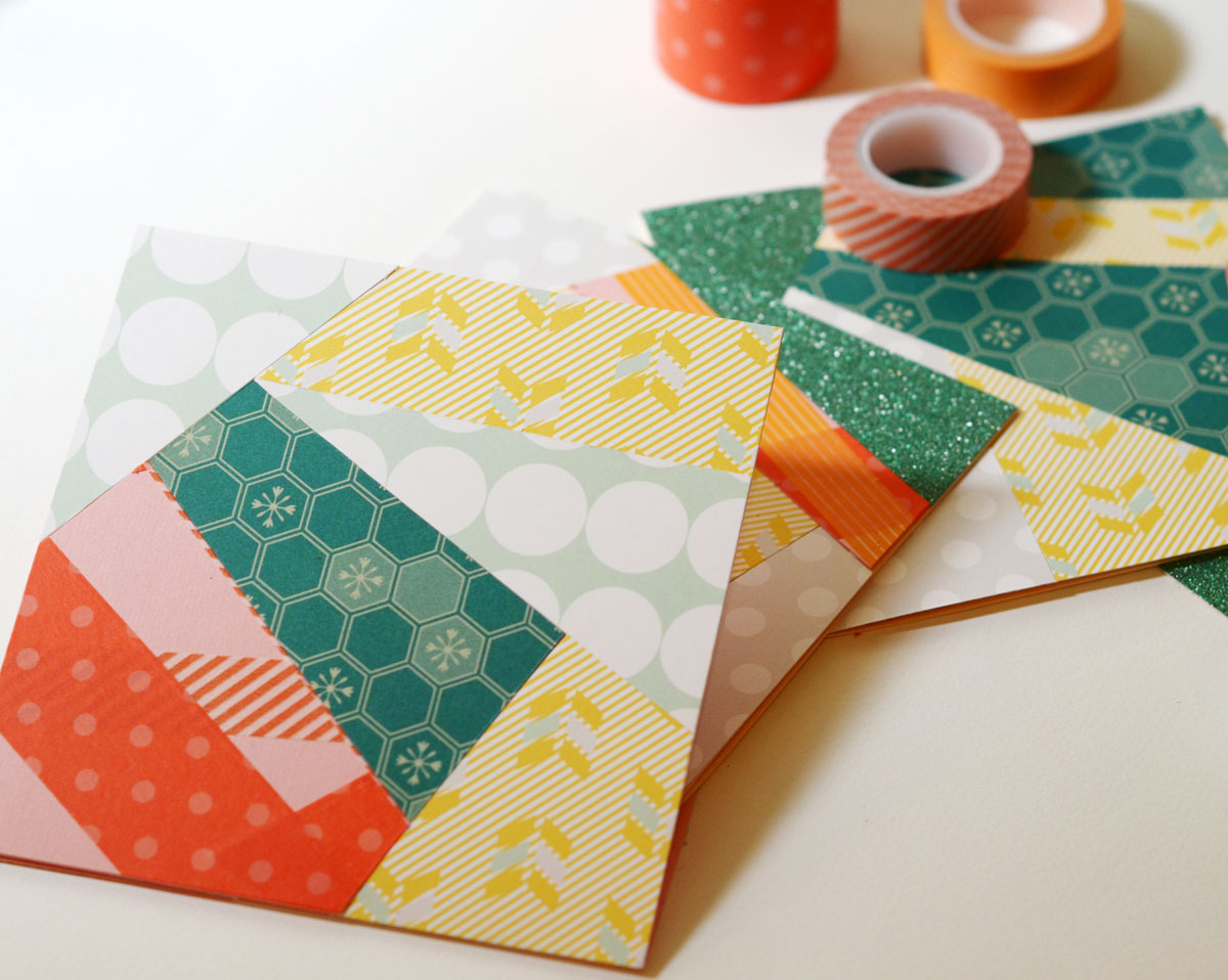 Funky Washi Tape Cards