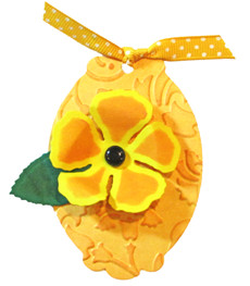 Sunny Embossed Flower Tag