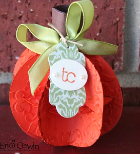 3D Pumpkin Placecard