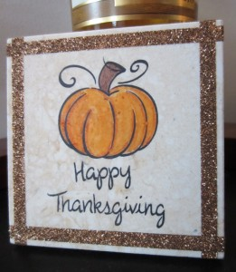 Copper Bling Thanksgiving Decoration