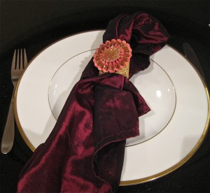 Gorgeous Copper Leaf Thanksgiving Napkin Rings
