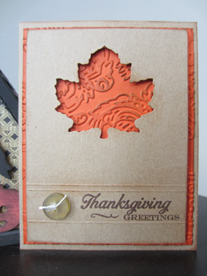 Simple and Sweet Leafy Thanksgiving Greeting Card