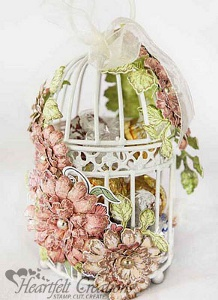 Majestic Morning Blooms Birdcage