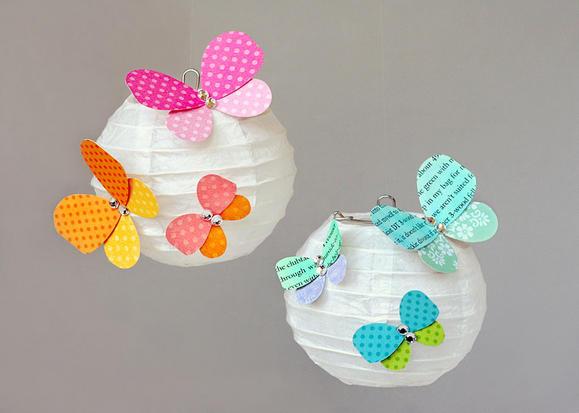 Paper flower petal butterflies - Crafts with flower petals ...