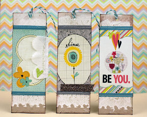Beautiful Mixed Media Bookmarks | AllFreePaperCrafts.com