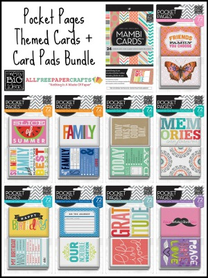 Pocket Pages Themed Cards + Card Pads Bundle