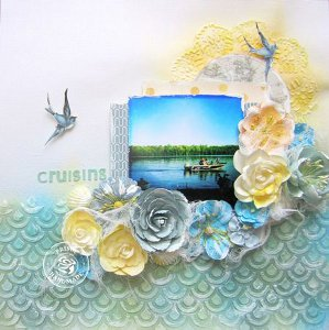 Beautiful Cruising Scrapbooking Layout