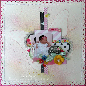 Butterfly Scrapbook Layout