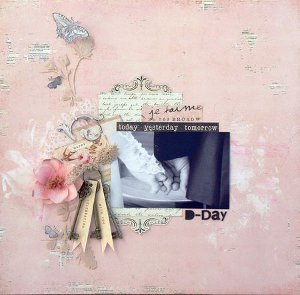 Today, Yesterday, Tomorrow Romantic Scrapbook Layout