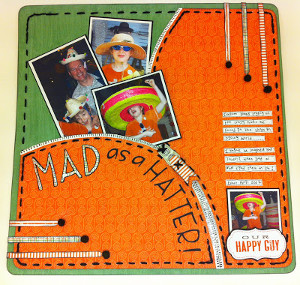Mad as a Hatter Scrapbook Layout