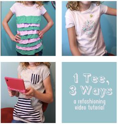 3 Ways to Refashion a T-Shirt