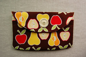 Apple Envelope Clutch